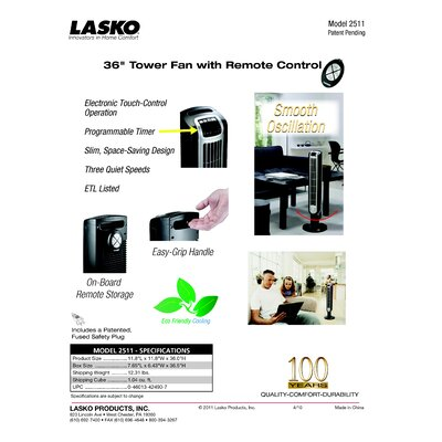 Lasko Lasko Stanley Ceramic Utility Heater with Pivot Power
