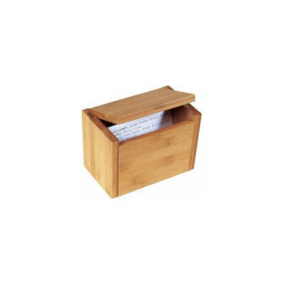 Lipper International Bamboo Recipe Box in Natural