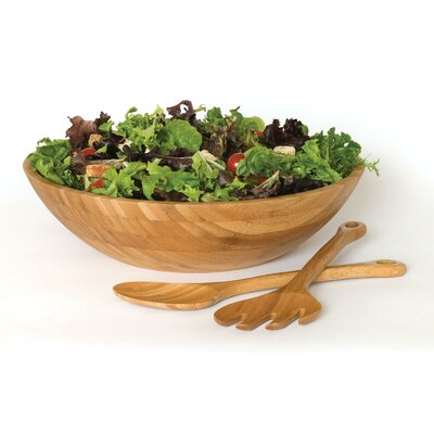 "Lipper International Bamboo 14"" Salad Bowl"