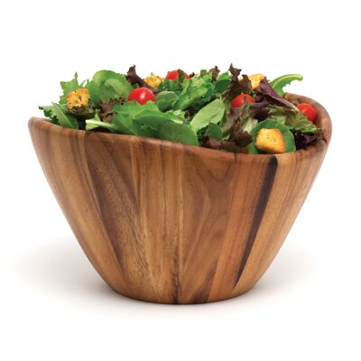 "Lipper International Acacia Serveware 12"" Wave Bowl"