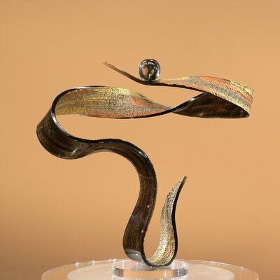 Sculptures and Art Pieces Acrylic Swirl Sculpture in Dark Bronze