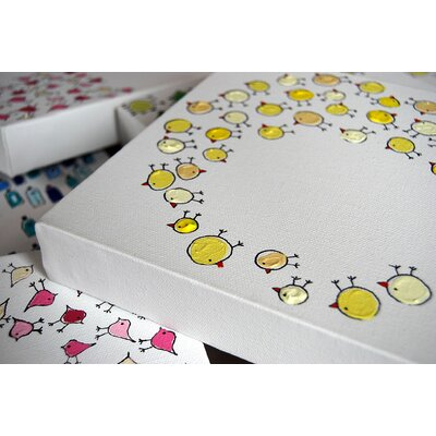 CiCi Art Factory Lotsa O Chicks Original Canvas Painting