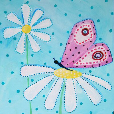 CiCi Art Factory Patchwork Daisy Daisy Paper Print by Liz Clay