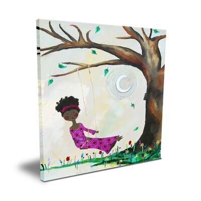 CiCi Art Factory Wit & Whimsy Silver Moon Canvas Art