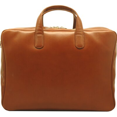 Aaron Irvin Sienna Leather Double Zip Briefcase