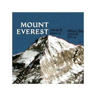 National Geographic Maps Mount Everest 50th Anniversary Wall Map (Two sided)