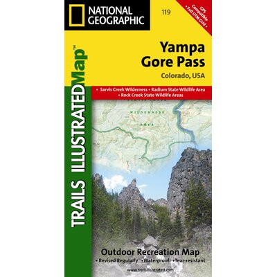 National Geographic Maps Trails Illustrated Map Yampa / Gore Pass