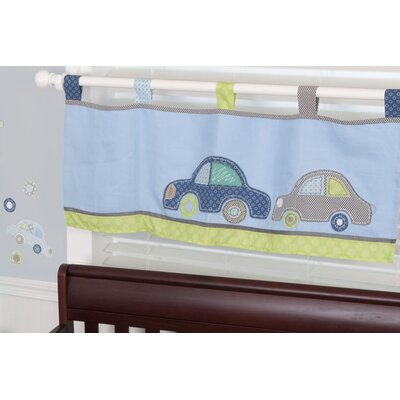 Sumersault Big Wheels Tab Top Tailored Curtain Valance