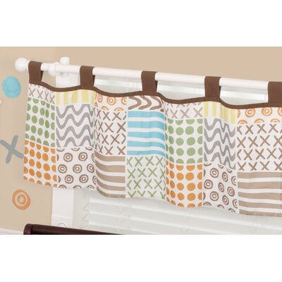 Sumersault Doodles Tab Top Tailored Curtain Valance