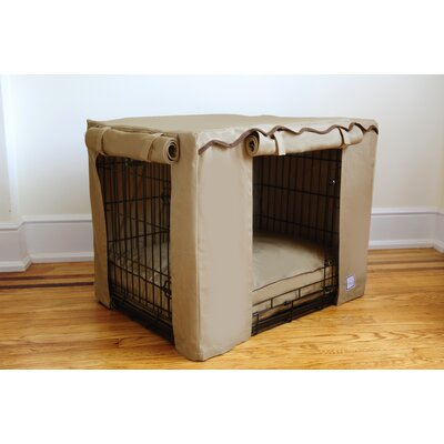 BowhausNYC Dog Crate Cover in Latte