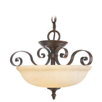 Livex Lighting Manchester 3 Light Convertible Inverted Pendant