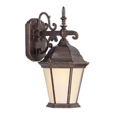 Livex Lighting Hamilton Outdoor Down Light Wall Lantern in Moroccan Gold