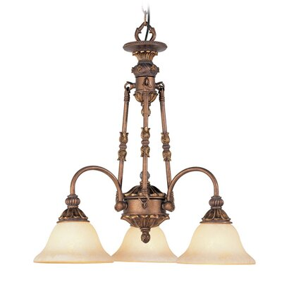 Livex Lighting Sovereign 3 Light Chandelier