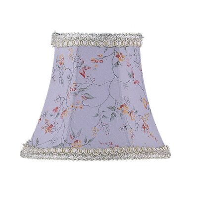 Livex Lighting Floral Print Bell Clip Chandelier Shade in Sky Blue