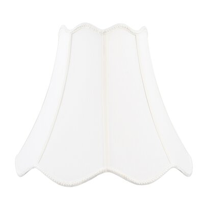 Livex Lighting Top and Bottom Scallop Shantung Silk Bell Lamp Shade