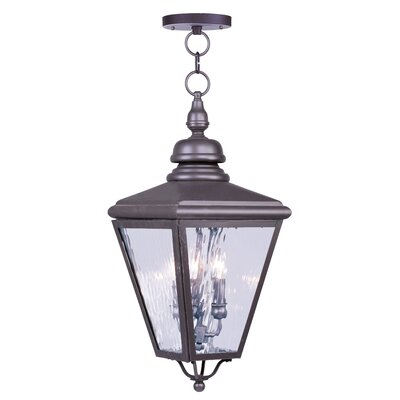 Livex Lighting Cambridge 4 Light Outdoor Hanging Lantern