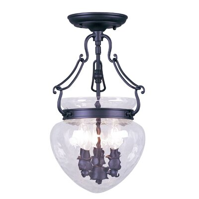 Livex Lighting Duchess 3 Light Convertible Foyer Pendant