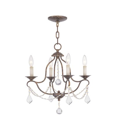Chesterfield 4 Light Mini Chandelier