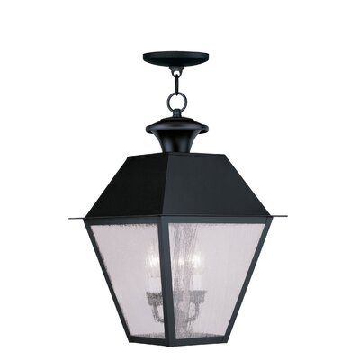 Livex Lighting Mansfield 3 Light Outdoor Hanging Lantern
