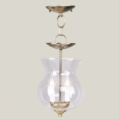 Livex Lighting Home Basics 2 Light Convertible Foyer Pendant