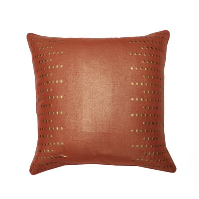 Trixie Side Nailhead Pillow Feather Fill with Self Welt
