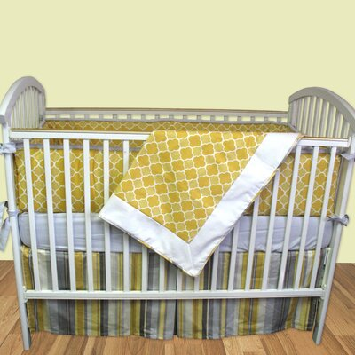 Bebe Chic Milano 3 Piece Crib Bedding Set with Bumper