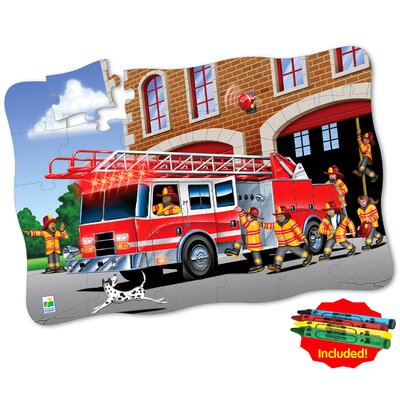The Learning Journey Puzzle Doubles Giant Fire Truck