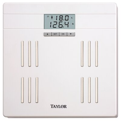 "Taylor Body Fat Digital 12.92"" Bath Scale"
