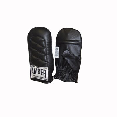 Amber Sporting Goods Economy Boxing Bag Gloves in Black