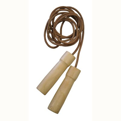 8.5' Leather Jump Rope with Wooden Handles