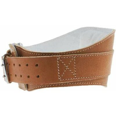 "Schiek Sports, Inc. 6"" Power Leather Lifting Belt in Natural Leather"