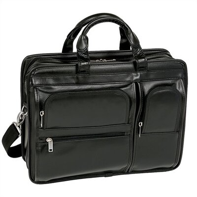 P Series Hubbard Leather Laptop Case in Black