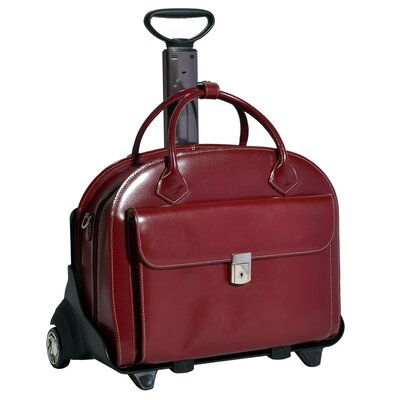 McKlein USA W Series Glen Ellyn Leather 2-in-1 Removable-Wheeled Women's Briefcase