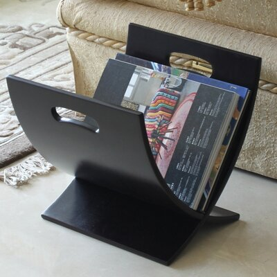 Oceanstar Design Contemporary Style Wooden Magazine Rack
