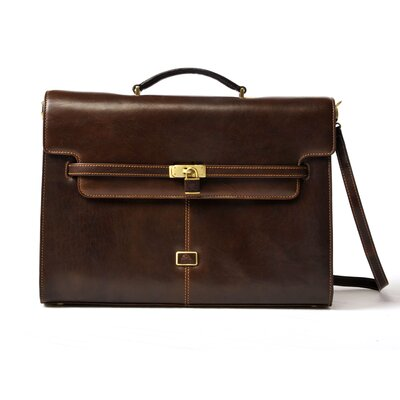 Tony Perotti Italico The Roman Modern Double Gusset Flap Briefcase