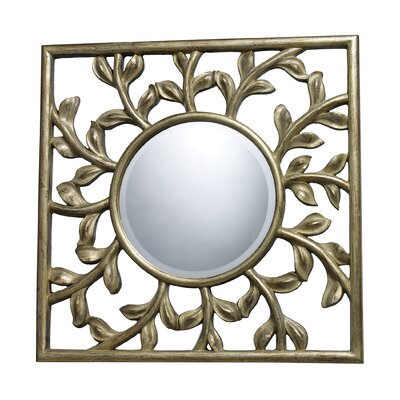 Dimond Lighting Oviedo Mirror in Silver Leaf and Black Antique