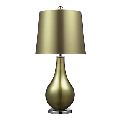 Dimond Lighting Dayton One Light Table Lamp in Sigma Green and Polished Nickel