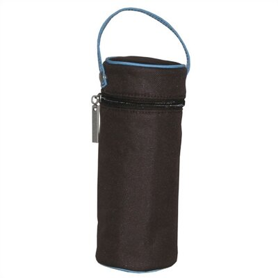 Kalencom Insulated Bottle Bag in Chocolate Brown and Blue