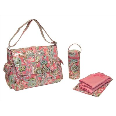 Laminated Buckle Bag in Cotton Candy Paisley Pink