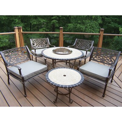 Oakland Living Tacoma Stone Art Bistro Set