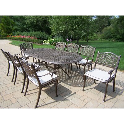 Mississippi 9 Piece Dining Set with Cushions
