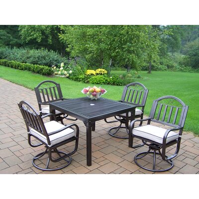 Oakland Living Rochester 5 Piece Dining Set with Cushions