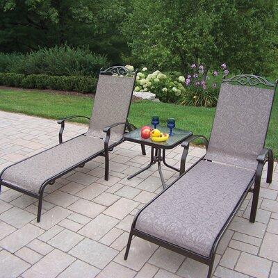 Oakland Living Cascade 3 Piece Lounge Seating Group