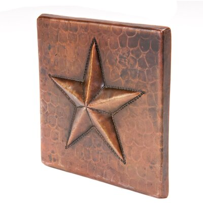 "Premier Copper Products 4"" x 4"" Copper Star Tile in Oil Rubbed Bronze"