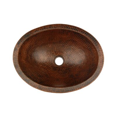 Premier Copper Products Oval Compact Skirted Vessel Bathroom Sink