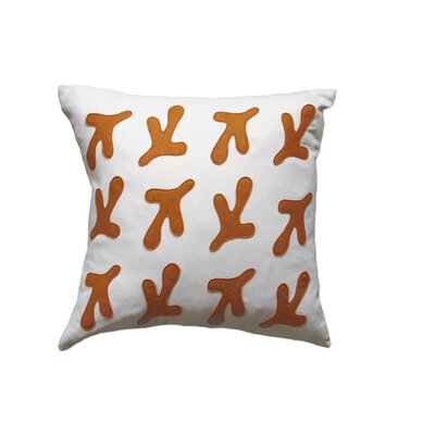 Balanced Design Bird's Feet Applique Pillow