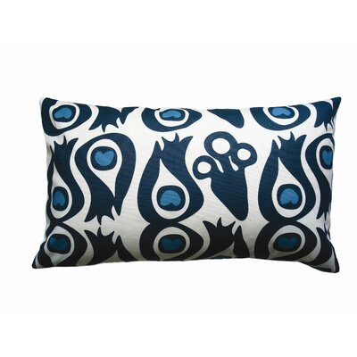 Balanced Design Hand Printed Canvas Peacock Pillow
