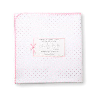 Swaddle Designs Ultimate Receiving Blanket® in Polka Dots