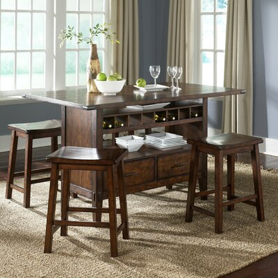 Liberty Furniture Cabin Fever Formal 5 Piece Counter Height Dining Set