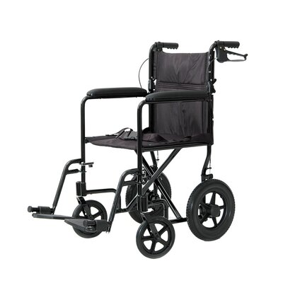 ProBasics Lightweight Aluminum Transport Chair with Rear Cable Hand Brakes